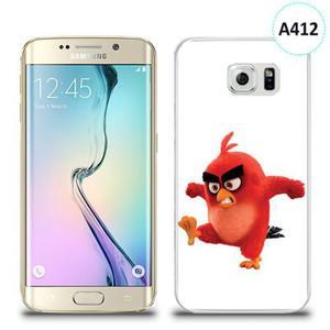 Etui silikonowe z nadrukiem Samsung Galaxy S6 Edge - angry bird - 2836309793