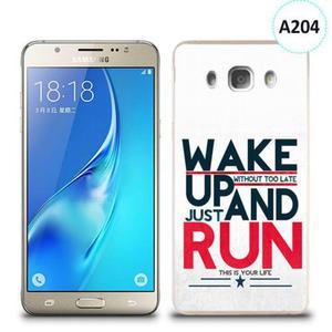 Etui silikonowe z nadrukiem Samsung Galaxy J5 2016 - wake up without too late just and run - 2836490877