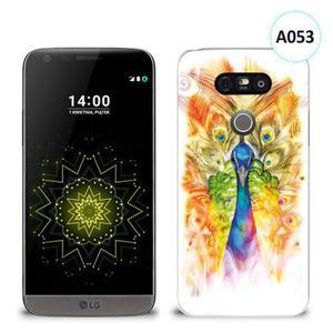 Etui silikonowe z nadrukiem LG G5 - paw malowany