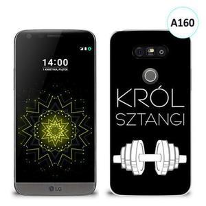 Etui silikonowe z nadrukiem LG G5 - król sztangi - 2836491018