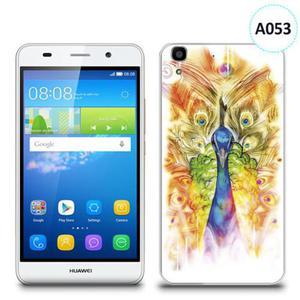 Etui silikonowe z nadrukiem Huawei Y6 - paw malowany - 2836721466