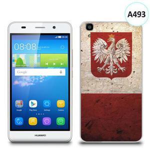 Etui silikonowe z nadrukiem Huawei Y6 - flaga z godłem - 2836910815