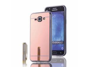 Etui lustrzane mirror gel Samsung Galaxy J1 2016 Różowe - Różowy - 2837264810