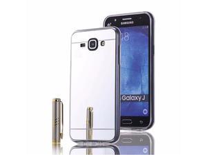 Etui lustrzane mirror gel Samsung Galaxy J1 2016 Srebrne - Srebrny - 2837264811