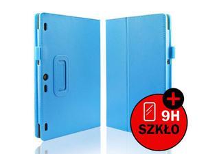 Niebieskie etui typu Stand Cover Lenovo Tab 2 A10-30 + Szkło hartowane - Niebieski