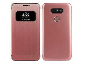 ETUI CLEAR VIEW COVER LG G5 - Różowy - 2842298665