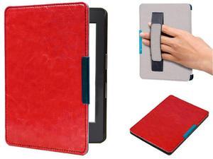 Etui na magnes Kindle 8 Touch 2016 Czerwone z Paskiem - Czerwony - 2842673340