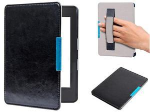 Etui na magnes Kindle 8 Touch 2016 Czarne z Paskiem - Czarny - 2842673341