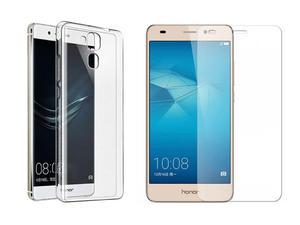 Etui silikonowe crystal 0.3mm guma do Huawei Honor 7 Lite + Szkło hartowane - 2842673381