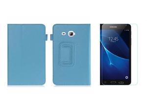 Etui STAND COVE Galaxy Tab A 7.0 T280 Niebieskie +Szkło - Niebieski