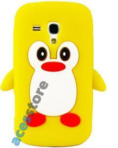 Silikonowe Etui Pingwin do SAMSUNG Galaxy Trend - Żółty - 2825178603