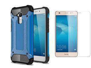 Etui Huawei Honor 7 Lite Hard Armor Niebieskie +Szkło - Niebieski
