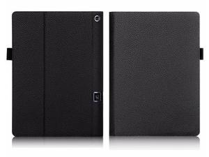 Etui skórzane Lenovo Yoga Tab 3 Pro X90 / Tab 3 Plus Czarne - Czarny - 2846459051