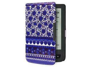 Etui do Pocketbook 624/614/626 Touch Lux 2 i 3 Niebieskie wzorki - Niebieskie wzorki - 2850209056