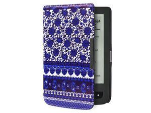 Etui Pocketbook 624/614/626 Touch Lux 2 i 3 Niebieskie wzorki - Niebieskie wzorki - 2850209056