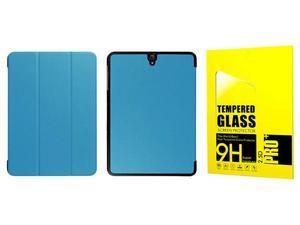 Etui book cover Samsung Galaxy Tab S3 9.7 niebieskie + Szkło - Niebieski