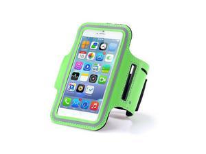 Etui na ramię sportowe do biegania na telefon do 5.5 cala zielone - Zielony - 2852567439