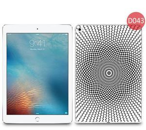 Etui z nadrukiem na tablet Apple iPad Air 2 - Biało-czarny wzór oczopląs - 2852567533