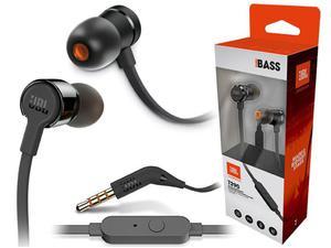 Słuchawki dokanałowe JBL T290 z mikrofonem Czarne - Czarny - 2857027847