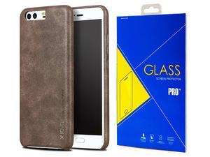 X-level stylowe etui Vintage do Huawei P10 Brown + Szkło - Brązowy - 2858254392