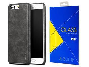 X-level stylowe etui Vintage do Huawei P10 Black + Szkło - Czarny - 2858254393