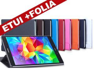 ETUI BOOK COVER SAMSUNG GALAXY TAB A 9.7 CZARNY + FOLIA - Czarny - 2835854287