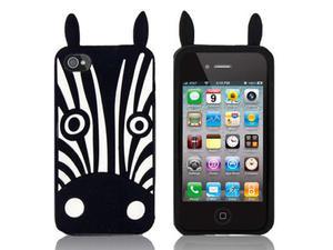 Etui silikonowe 3D iPhone 4 4S Zebra Marvin - 2825179481