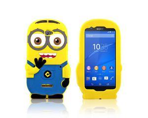 Etui silikonowe 3D Minionek Pokrowiec Sony Xperia E4 - 2825179620