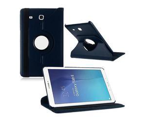 Granatowe etui skórzane PU Stand Cover Galaxy Tab A 9.7 T550 - Granatowy - 2825179739
