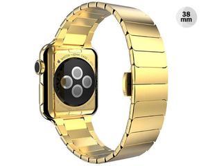 ZŁOTA Elegancka bransoleta/pasek do Apple Watch Lock Loop 38mm CZARNA - Złoty - 2825179922
