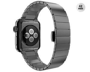 CZARNA Elegancka bransoleta/pasek do Apple Watch Lock Loop 42mm - Czarny - 2825179926