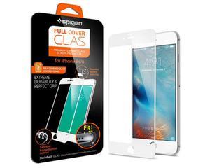 Białe Szkło hartowane 9H na cały ekran Spigen Full Cover Glas do iPhone 6/6s - Biały - 2825179973
