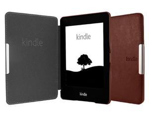 Etui Eko Skóra do Kindle Paperwhite na magnes - Brązowy - 2836490782