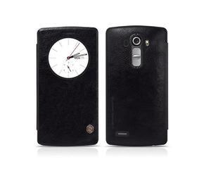 Etui prawdziwa skóra Nillkin QIN Flip Cover dla LG G4 S/BEAT Czarne - Czarny - 2825180078