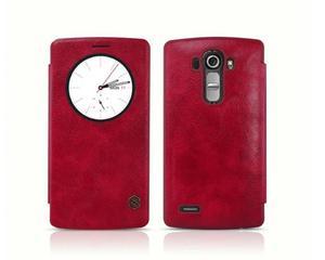 Etui prawdziwa skóra Nillkin QIN Flip Cover dla LG G4 S/BEAT Czerwone - Czerwony - 2825180079