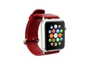 Pasek skórzany klasyczny Apple Watch 42mm - Czerwony - 2825180642