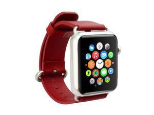 Pasek skórzany Cuffs Mankiet Apple Watch 38mm - Czerwony - 2825180646