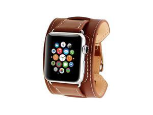 Pasek skórzany Cuffs Mankiet Apple Watch 38mm - Brązowy - 2825180649