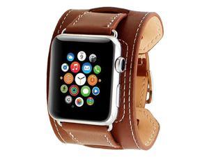 Pasek skórzany Cuffs Mankiet Apple Watch 42mm - Brązowy - 2825180650