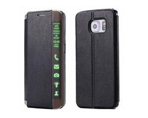 Etui Side View Cover Samsung Galaxy S6 Edge Plus Czarne - Czarny - 2825180126