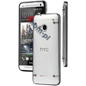 ETUI Crystal Case Przezroczyste do HTC ONE M7 - Czarny - 2841347837