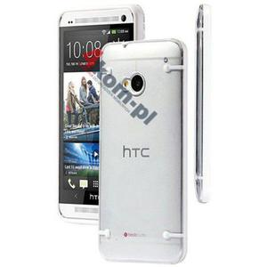 ETUI Crystal Case Przezroczyste do HTC ONE M7 - Biały - 2841347838