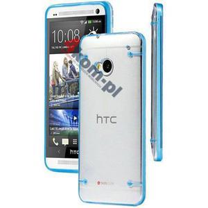ETUI Crystal Case Przezroczyste do HTC ONE M7 - Niebieski - 2841347839