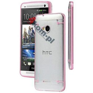 ETUI Crystal Case Przezroczyste do HTC ONE M7 - Różowy - 2841347841