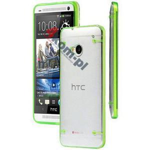 ETUI Crystal Case Przezroczyste do HTC ONE M7 - Zielony - 2841347842