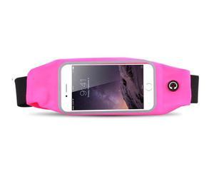 Etui saszetka nerka na telefon do biegania 5.5 cala różowa - Różowy - 2825181109