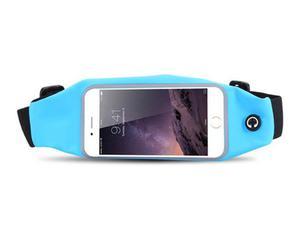 Etui saszetka nerka na telefon do biegania 5.5 cala niebieska - Niebieski - 2825181110