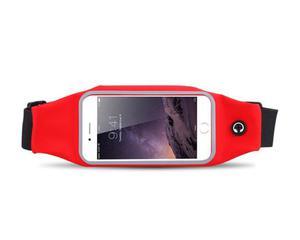 Etui saszetka nerka na telefon do biegania 5.5 cala czerwona - Czerwony - 2825181111