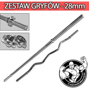 Zestaw gryf�w 28mm- gryf �amany pojedy�czo + gryf prosty 182 cm - 2823552759