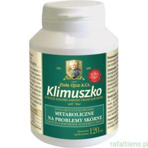 Trądzik Wypryski Tabletki wspierające prawidłowy metabolizm Piękna Skóra Ojca A. Cz. Klimuszko - 2824801075